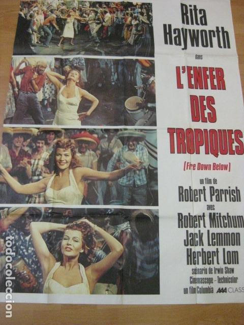 Cine: Fire Down Below - poster cartel original frances 120x160 cm - L'Enfer des tropiques rita hayworth - Foto 2 - 186338273