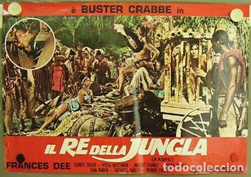 Cine: bk37D EL HOMBRE LEON BUSTER CRABBE KASPAR / TARZAN SET 3 POSTERS ORIGINALES ITALIANOS 47X68 - Foto 2 - 186341388