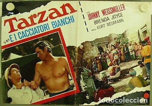 BK42D TARZAN Y LA CAZADORA JOHNNY WEISSMULLER SET 3 POSTERS ORIGINALES ITALIANOS 47X68 (Cine - Posters y Carteles - Aventura)