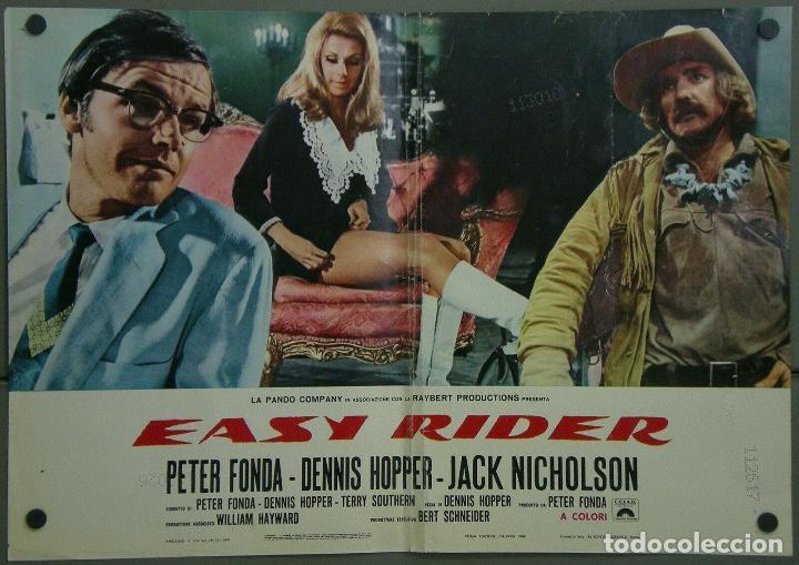 TW67D EASY RIDER DENNIS HOPPER PETER FONDA HARLEY DAVIDSON POSTER ORIGINAL ITALIAN 47X68 (Cine- Posters y Carteles - Drama)