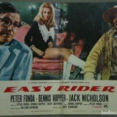 Cine: TW67D EASY RIDER DENNIS HOPPER PETER FONDA HARLEY DAVIDSON POSTER ORIGINAL ITALIAN 47X68. Lote 186346186