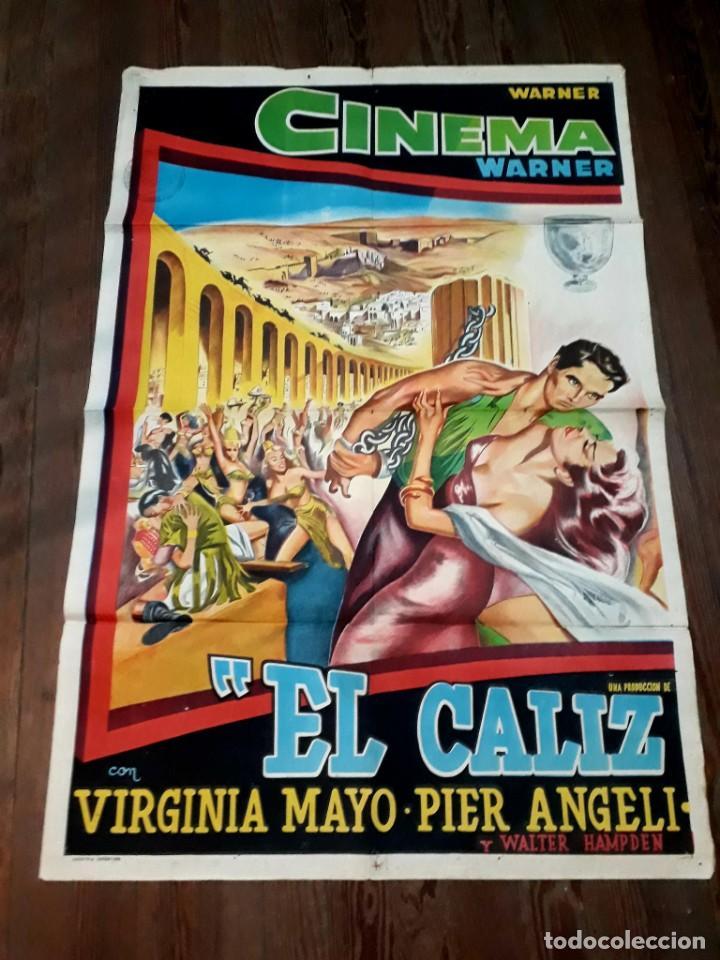 EL CÁLIZ. VIRGINIA MAYO, PIER ANGELI.. CARTEL ARGENTINO.110 X 75 CM. SERIGRAFIADO. (Cine- Posters y Carteles - Drama)