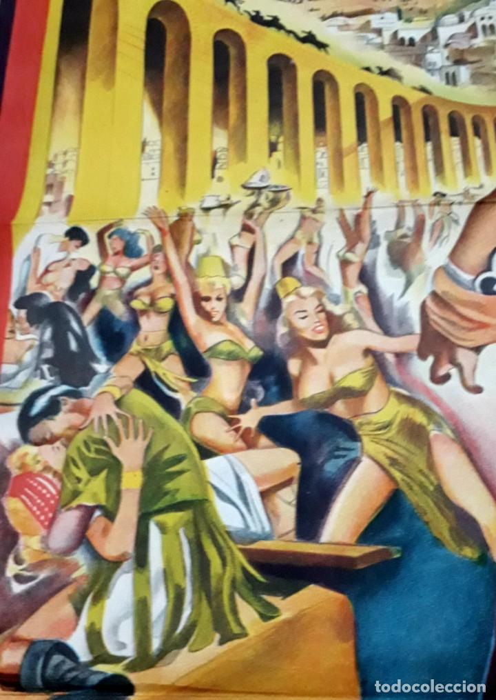 Cine: El cáliz. VIRGINIA Mayo, Pier Angeli.. Cartel argentino.110 x 75 cm. Serigrafiado. - Foto 2 - 186349632