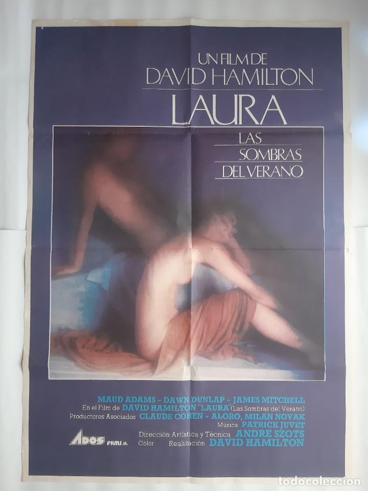 CARTEL CINE LAURA LAS SOMBRAS DEL VERANO DAVID HAMILTON 1979 C464 (Cine- Posters y Carteles - Drama)