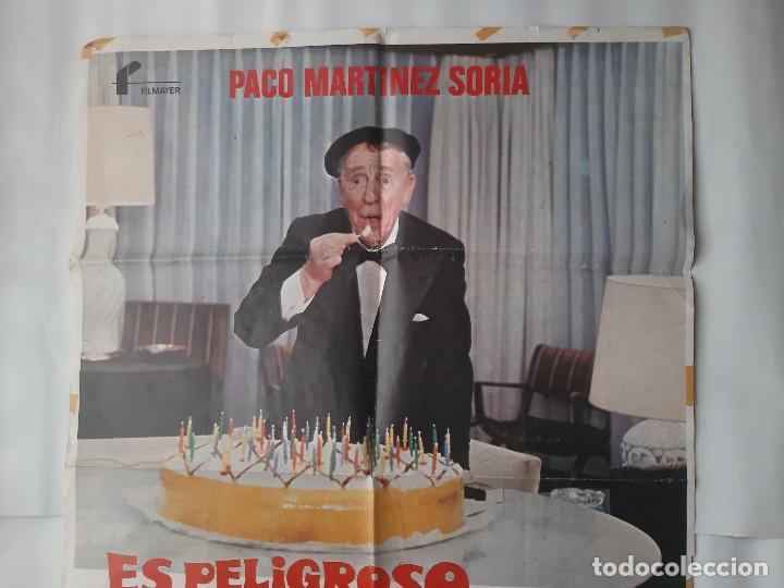 Cine: CARTEL CINE PACO MARTINEZ SORIA ES PELIGROSO CASARSE A LOS 60 1980 C465 - Foto 2 - 186365912