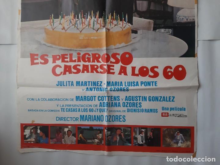 Cine: CARTEL CINE PACO MARTINEZ SORIA ES PELIGROSO CASARSE A LOS 60 1980 C465 - Foto 3 - 186365912