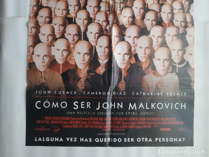 Cine: CARTEL CINE COMO SER JOHN MALKOVICH 1999 C466 - Foto 3 - 186366042