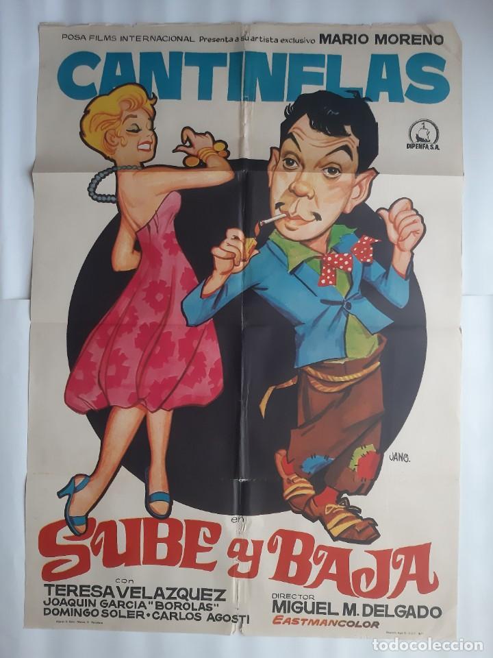 CARTEL CINE CANTINFLAS SUBE Y BAJA 1971 JANO C466 (Cine - Posters y Carteles - Comedia)