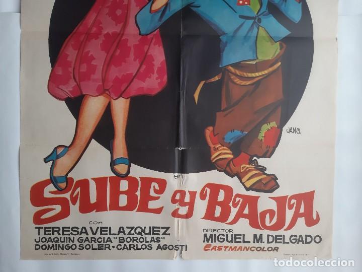 Cine: CARTEL CINE CANTINFLAS SUBE Y BAJA 1971 JANO C466 - Foto 3 - 186366385