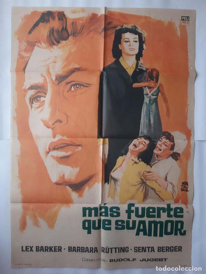 CARTEL CINE MAS FUERTE QUE SU AMOR 1966 MONTALBAN C468 (Cine- Posters y Carteles - Drama)
