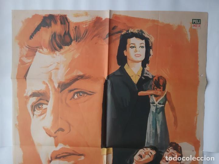 Cine: CARTEL CINE MAS FUERTE QUE SU AMOR 1966 MONTALBAN C468 - Foto 2 - 186366697