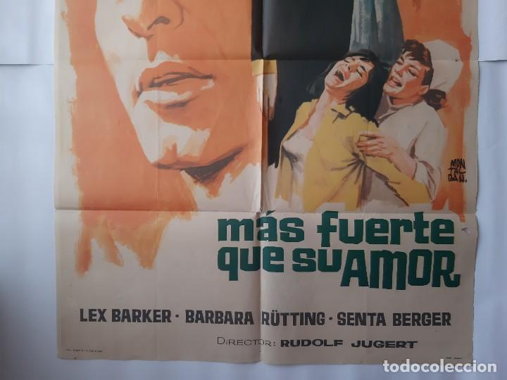 Cine: CARTEL CINE MAS FUERTE QUE SU AMOR 1966 MONTALBAN C468 - Foto 3 - 186366697