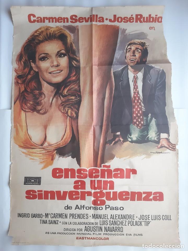 CARTEL CINE ENSEÑAR A UN SINVERGUENZA CARMEN SEVILLA 1979 C471 (Cine - Posters y Carteles - Clasico Español)