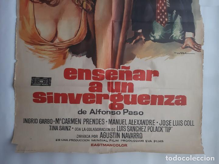Cine: CARTEL CINE ENSEÑAR A UN SINVERGUENZA CARMEN SEVILLA 1979 C471 - Foto 3 - 186367441