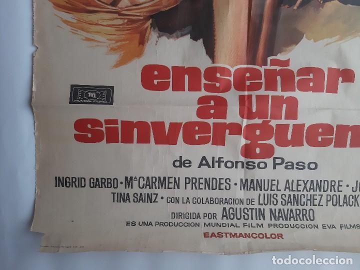 Cine: CARTEL CINE ENSEÑAR A UN SINVERGUENZA CARMEN SEVILLA 1979 C471 - Foto 8 - 186367441