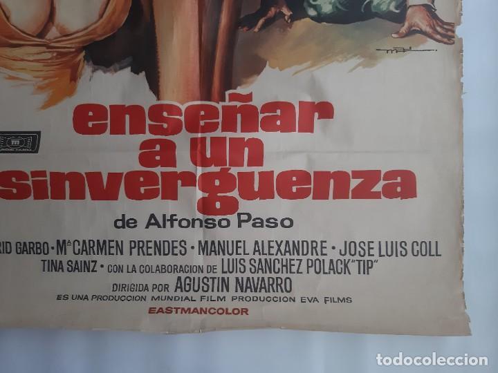 Cine: CARTEL CINE ENSEÑAR A UN SINVERGUENZA CARMEN SEVILLA 1979 C471 - Foto 9 - 186367441