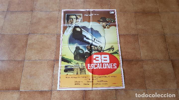 POSTER CARTEL 39 ESCALONES (100 X 70 CMS. APROX.) ROBERT POWEL Y DAVID WARNER (Cine - Posters y Carteles - Aventura)