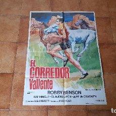 Cine: POSTER CARTEL EL CORREDOR VALIENTE (100 X 70 CMS. APROX.) ROBBY BENSON. Lote 186385568