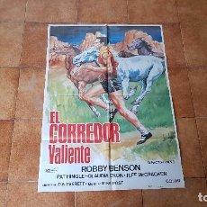 Cine: POSTER CARTEL EL CORREDOR VALIENTE (100 X 70 CMS. APROX.) ROBBY BENSON. Lote 186385833