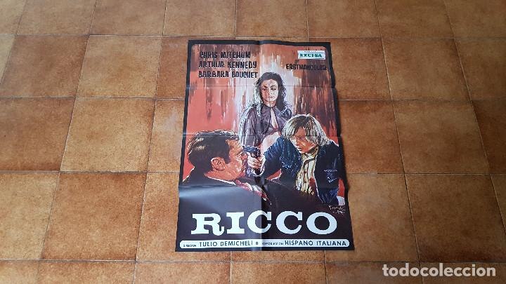 POSTER CARTEL RICCO (118 X 70 CMS. APROX.) DIR. TULIO DEMICHELI (Cine- Posters y Carteles - Drama)
