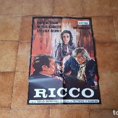 Cine: POSTER CARTEL RICCO (118 X 70 CMS. APROX.) DIR. TULIO DEMICHELI. Lote 186388851