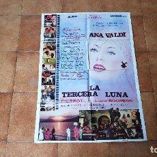 Cine: POSTER CARTEL LA TERCERA LUNA - 1984 (100 X 70 CMS. APROX.) DIR. G. ALMENDROS. Lote 186403206