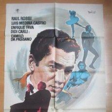 Cine: CARTEL CINE EL DELANTERO CENTRO RAUL ROSSI LUIS MEDINA CASTRO MAC 1963 C1706. Lote 186407801