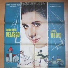 Cine: CARTEL CINE LA BODA ERA A LAS DOCE CONCHITA VELASCO JOSE RUBIO 1963 C1713. Lote 186409326
