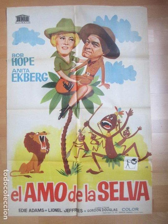 CARTEL CINE EL AMO DE LA SELVA BOB HOPE ANITA EKBERG 1964 JANO C1715 (Cine - Posters y Carteles - Aventura)
