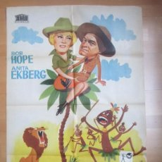 Cine: CARTEL CINE EL AMO DE LA SELVA BOB HOPE ANITA EKBERG 1964 JANO C1715. Lote 186409727