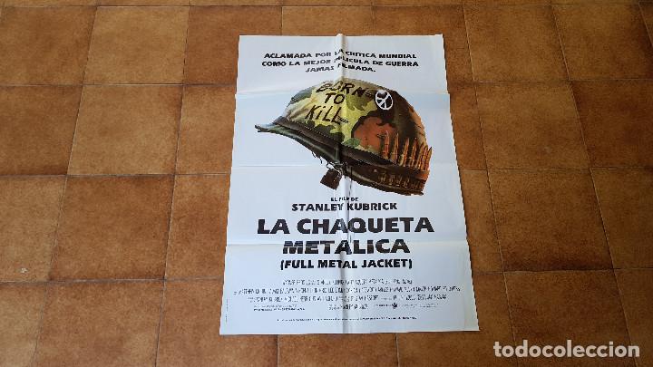 POSTER CARTEL LA CHAQUETA METALICA (100 X 70 CMS. APROX.) UN FILM DE STANLEY KUBRICK (Cine - Posters y Carteles - Bélicas)