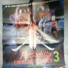 Cine: PESADILLA EN ELM STREET 3 CARTEL ORIGINAL MEDIDAS 70 X 100. Lote 186693566