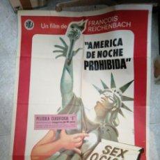 Cine: AMÉRICA DE NOCHE PROHIBIDA SEXO CLOCK USA PELÍCULA CLASIFICADA ORIGINAL 70%X100. Lote 186733243