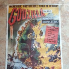 Cine: POSTER GODZILLA KING OF THE MONSTERS US ONE SHEET MOVIE POSTER COMMERCIAL REPRINT 1980'S. Lote 186819237