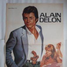 Cine: CARTEL CINE POR LA PIEL DE UN POLICIA ALAIN DELON 1982 JANO C475. Lote 187004727