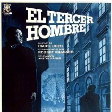 Cine: EL TERCER HOMBRE (POSTER). Lote 187107358