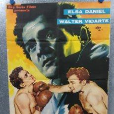 Cine: EL COMBATE DE LA MUERTE. ELSA DANIEL, WALTER VIDARTE. AÑO 1960 POSTER ORIGINAL. Lote 187115555