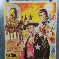 Cine: MAS ALLA DE LA LEY. LEE VAN CLEEF, ANTONIO SABATO, GORDON MITCHELL AÑO 1969 POSTER ORIGINAL. Lote 187117308