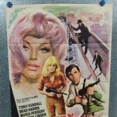 Cine: COMISARIO X. TONY KENDALL, BRAD HARRIS, MARIA PERSCHY AÑO 1966 POSTER ORIGINAL. Lote 187117561