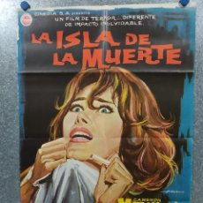 Cine: LA ISLA DE LA MUERTE. CAMERON MITCHELL, ELISA MONTÉS, GEORGE MARTIN AÑO 1967. POSTER ORIGINAL. Lote 187185880