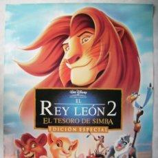 Cine: EL REY LEÓN 2. EL TESORO DE SIMBA. POSTER DE VIDEO, 68,5 X 91,5 CMS... Lote 187187087