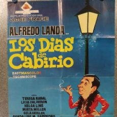 Cine: LOS DÍAS DE CABIRIO. ALFREDO LANDA, TERESA RABAL, MIRTA MILLER AÑO 1971. POSTER ORIGINAL. Lote 187187947