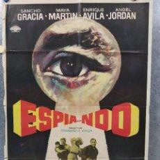 Cine: ESPIA...NDO. SANCHO GRACIA, MAYA MARTIN, ENRIQUE AVILA, ANGEL JORDAN. AÑO 1971. POSTER ORIGINAL. Lote 187201908