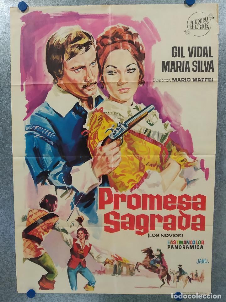 PROMESA SAGRADA. GIL VIDAL, MARIA SILVA AÑO 1965. POSTER ORIGINAL (Cine- Posters y Carteles - Drama)