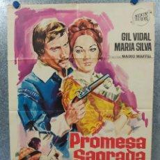 Cine: PROMESA SAGRADA. GIL VIDAL, MARIA SILVA AÑO 1965. POSTER ORIGINAL. Lote 187203640