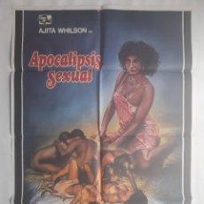 Cine: CARTEL CINE APOCALIPSIS SEXUAL 1981 HP GRAFICO C490. Lote 187314725