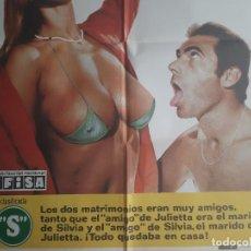 Cine: CARTEL CINE LA CALIENTE NIÑA JULIETTA 1980 HP GRAFICO C491 CLASIFICADA S. Lote 187315047