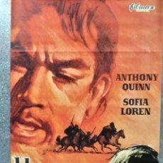 Cine: HOMBRE O DEMONIO. ANTHONY QUINN, SOPHIA LOREN. AÑO 1972. POSTER ORIGINAL. Lote 187320745