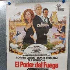 Cine: EL PODER DEL FUEGO. SOFIA LOREN, JAMES COBURN. AÑO 1979. POSTER ORIGINAL. Lote 187321343