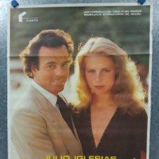 Cinéma: ME OLVIDE DE VIVIR . JULIO IGLESIAS. AÑO 1980. POSTER ORIGINAL. Lote 187321960